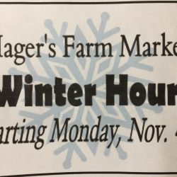 Winter Hours Start Monday, Nov. 4th
